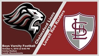 CHS Lions Varsity Football at Lowell Red Raiders Oct. 4, 2019