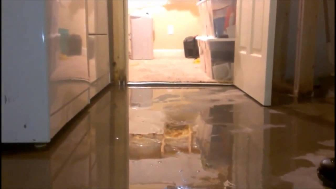 Basement Floods Through Concrete Floor Youtube