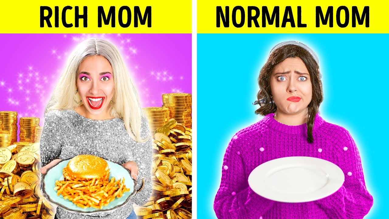 RICH MOM VS BROKE MOM | Rich Vs Normal Girl | Funny Family Moments by Challenge Accepted