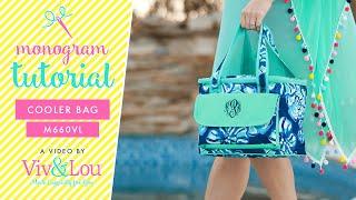 Viv and Lou Tidelines Collection Cooler Bag Monogrammed Cooler Bag