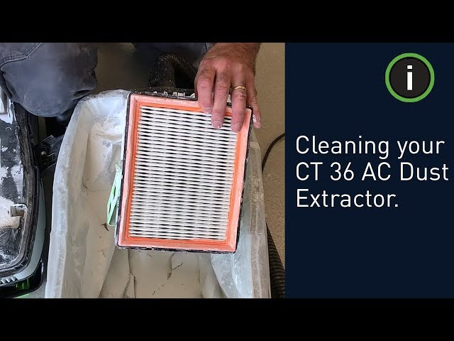 Festool Training: Cleaning your CT 36 AC Dust Extractor