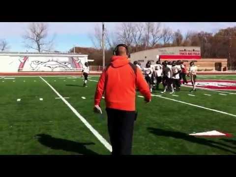 Dewar High School football practice session vid 1