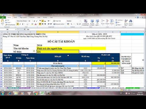 Cách lập sổ cái tài khoản kế toán nhanh và chính xác nhất