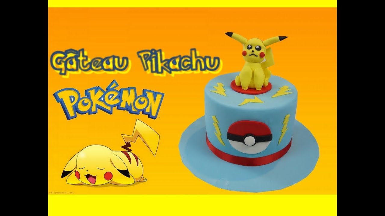 g teau pok mon pikachu pikachu cake cake design youtube. Black Bedroom Furniture Sets. Home Design Ideas