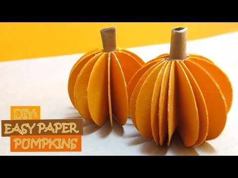 DIY: How to Make Easy Paper Pumpkins