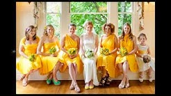 Yellow Bridesmaid Dresses Collection 2014 2015
