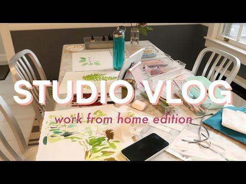 Artist Studio Vlog   Freelance Illustrator Working from Home With Kids