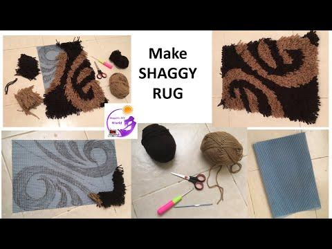 how to make a shaggy rug shaggy mat