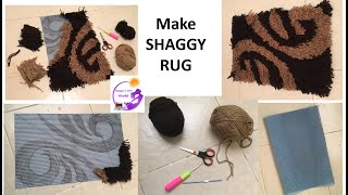 How to Make Shaggy Rug - shaggy mat