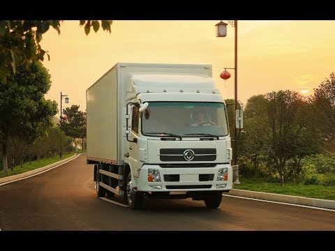 Грузовики  Dongfeng Motor на открытие представительства Dongfeng Trucks в Москве