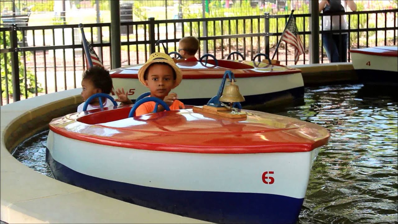 Family trip to Pullen Park Boats Trains and fun