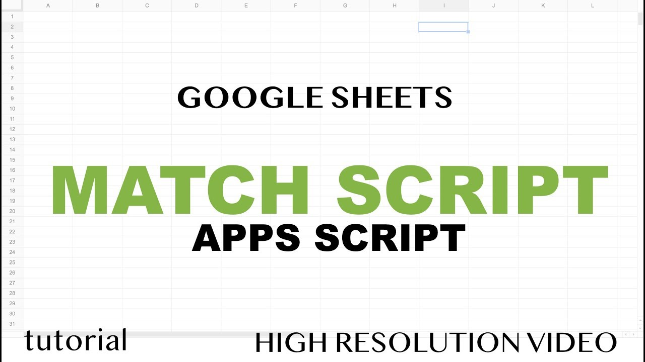 Match Function with Google Sheets Apps Script -JavaScript IndexOf Method  Tutorial - Part 16