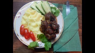 Свинина с черносливом и яблоками (в духовке) Pork with prunes and apples (in the oven)