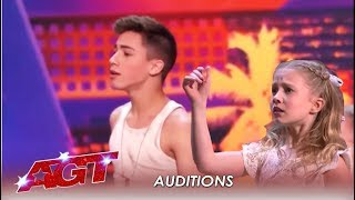 Izzy & Easton: Ages 11 and 14 This Young Dancing Duet WOW The Judges!