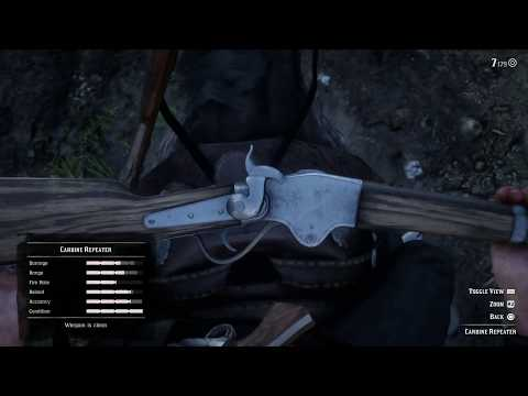 Red Dead Redemption 2 - How To Clean a Carbine Repeater With Gun Oil While Riding A Horse (2018)