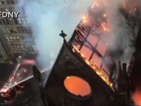 Fire Destroys Historic New York City Church