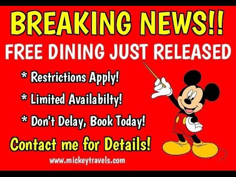 Disney FREE DINING Info and Questions LIVE!