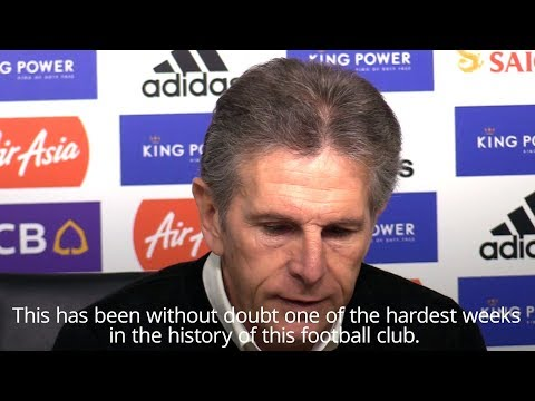 Claude Puel Gives An Emotional Tribute To Leicester Owner
