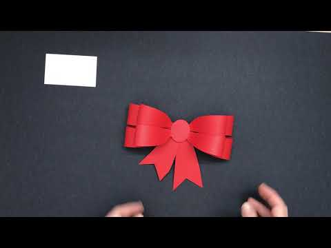 3D paper bow _ how to make a paper bow _ paper bow template