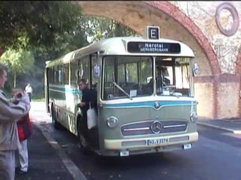 mercedes oldtimer bus in wiesbaden youtube. Black Bedroom Furniture Sets. Home Design Ideas