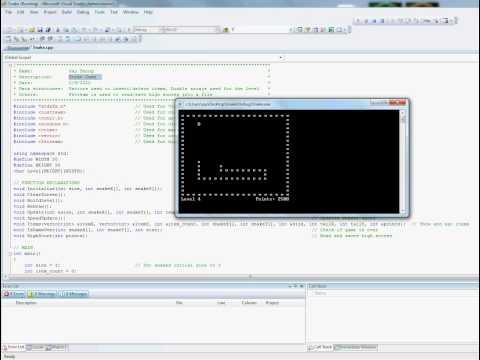 c++ program to make a snake game pdf