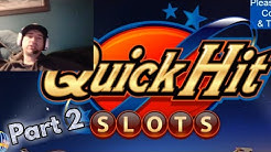QUICK HIT CASINO SLOTS FREE SLOT MACHINES GAMES Part 2 Android / Ios Gameplay Youtube YT Video