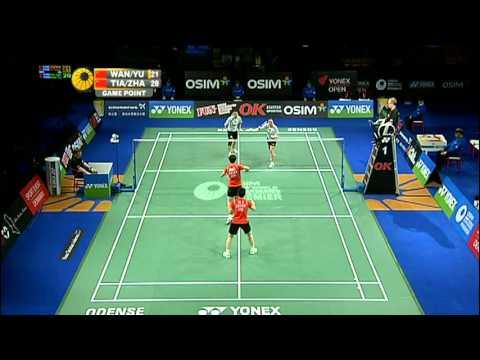F - WD - Wang Xiaoli / Yu Yang vs Tian Qing / Zhao Yunlei - 2011 Yonex Denmark Open