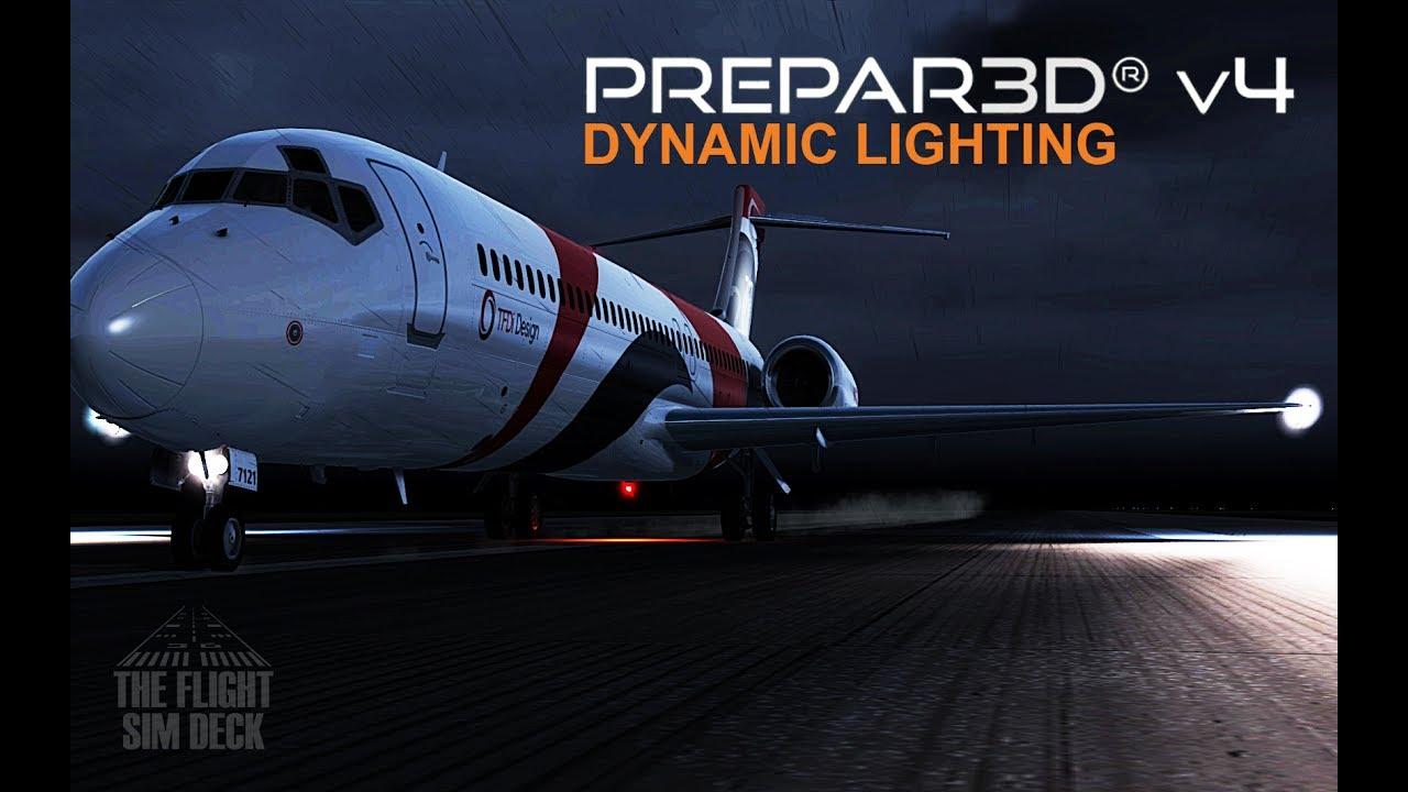 Prepar3d V4 First Look Dynamic Lighting Youtube