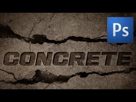 Photoshop Text Tutorial Concrete Effect Youtube