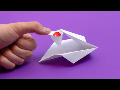 Оригами: катапульта. Как сделать катапульту из бумаги А4 без клея и без ножниц лёгкое оригами