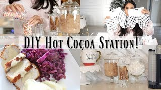 DIY Hot Cocoa Station, Target Haul & Dinner Recipe! A Day In My Life! MissLizHeart