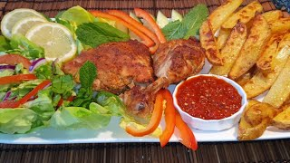The Best oven baĸed Chicken and Potato Wedges | Gieti's Afghan Kitchen