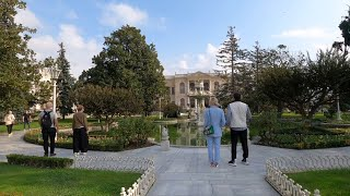 ISTANBUL WALK TOUR Walking to Dolmabahçe Palace 4K