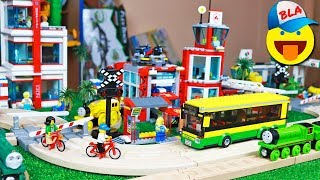 Паровозики ТОМАС И ДРУЗЬЯ везут больных в БОЛЬНИЦУ ЛЕГО СИТИ - Thomas and friends in Lego City