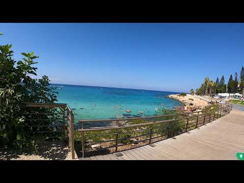 Walking tour in Protaras Beach Cyprus - Walking 4k 6o fps GoPro 9 Walkingvideo part 1.