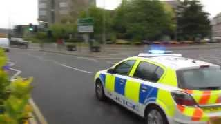 Thames valley police Vauxhall astra incident response vehicle on emergency call