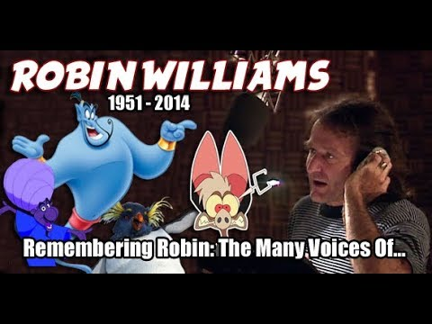 Many Voices of ROBIN WILLIAMS Animated Tribute HD High Quality
