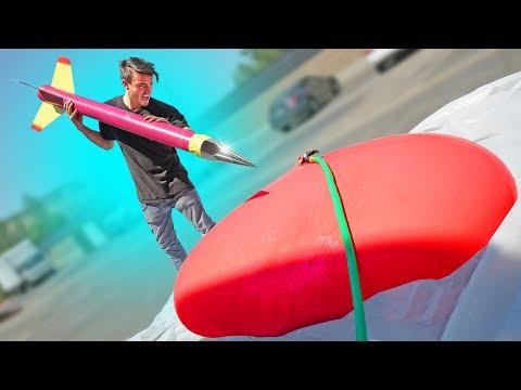 World's BIGGEST Dart vs. GIANT Water Balloon!