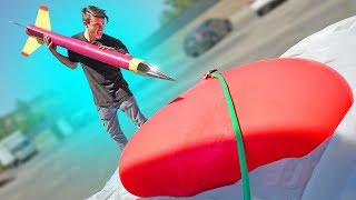 World's BIGGEST Dart vs. GIANT Water Balloon!