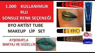 Eğlenceli! Tüpte sıvı ruj setiyle sonsuz renkler hazırlamak Bio Artist Tube Makeup lip set
