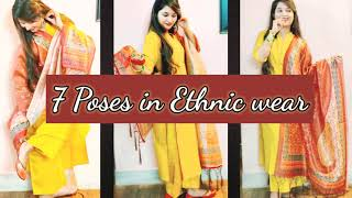 Ethinc Wear photography (Suits) |Easy poses in ethnic wear| Phone Photography | Trish Tales screenshot 4