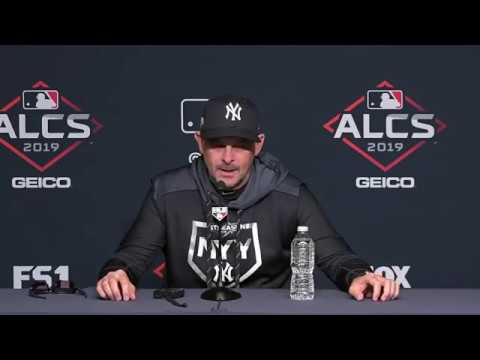 Aaron Boone talks health of CC Sabathia and Aaron Hicks thumbnail