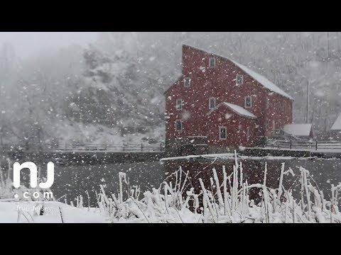 Snowfall turns historic Clinton Mill into a live postcard