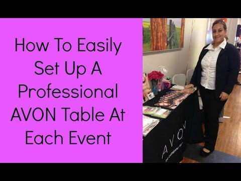 AVON Representative Shares How To Easily Set Up A Professional AVON Table Event