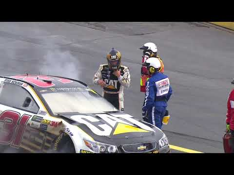 Ryan Newman wrecks, car catches fire at Charlotte
