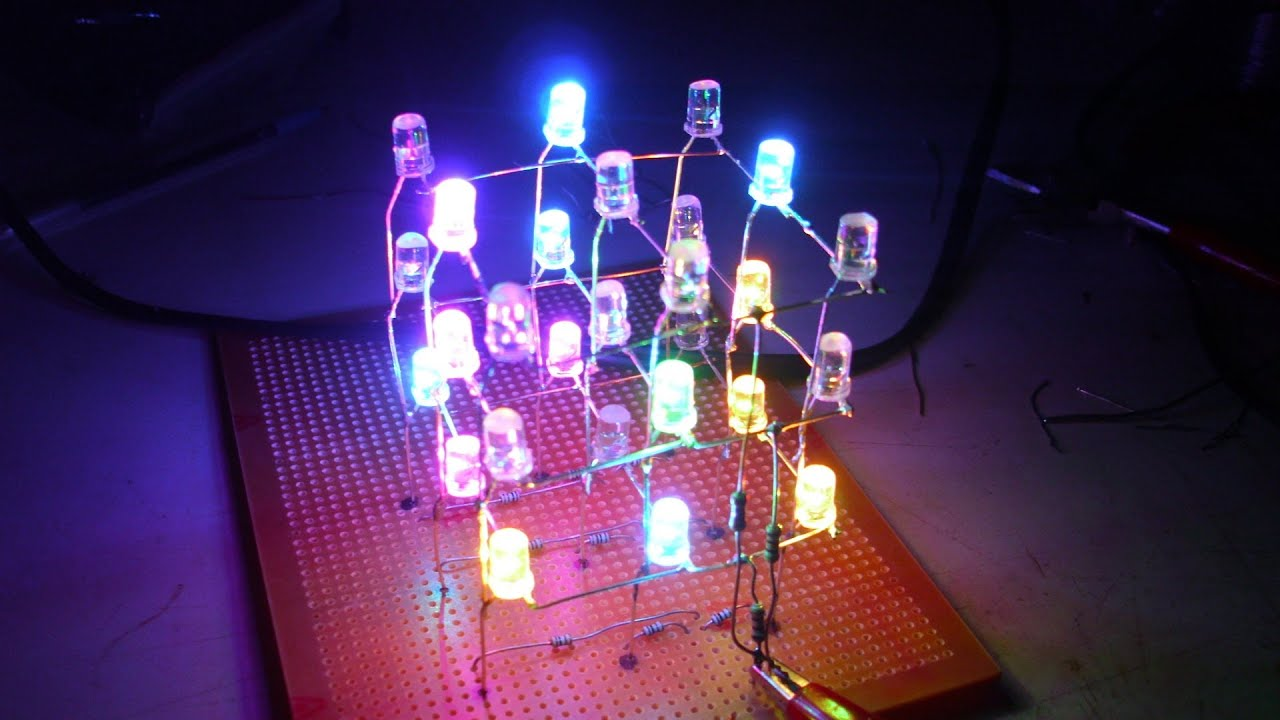 Cuadros Con Leds Proyectosled 16 Cubo Leds Rgb Muy Facil De Hacer Parte