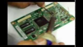 Como consertar TV LCD Samsung sem imagem ou com imagem borrada, negativa, espelhando ou sem foco.