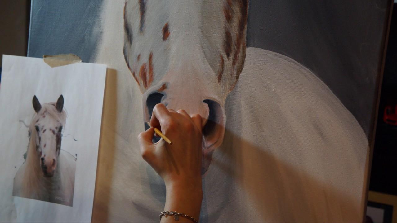 pferd in acryl auf leinwand making of speedpainting creativonero youtube. Black Bedroom Furniture Sets. Home Design Ideas