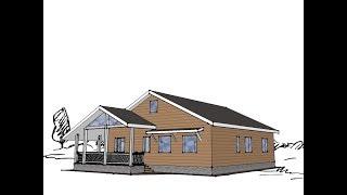 Проект дома Модена  (северный фасад, одноэтажный дом до 140-150 квм).Часть 2(Проект одноэтажного дома 140-150 кв.м. на участке с северным фасадом (первая часть здесь https://youtu.be/iOy0jl6snng) Как..., 2016-03-01T19:43:25.000Z)