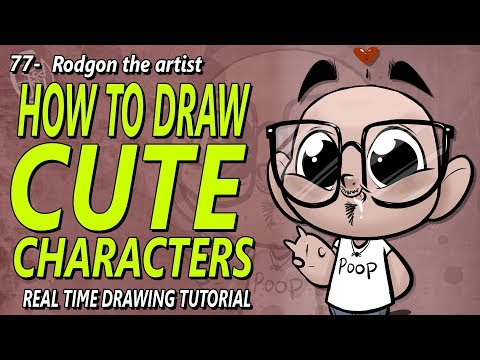 How to draw cute characters - how to make your drawings look